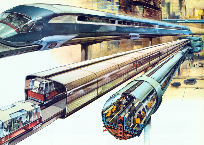 Futuristic Cities With Flying Cars